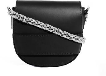 Asos Leather Cross Body Bag with Chain Strap - Lyst