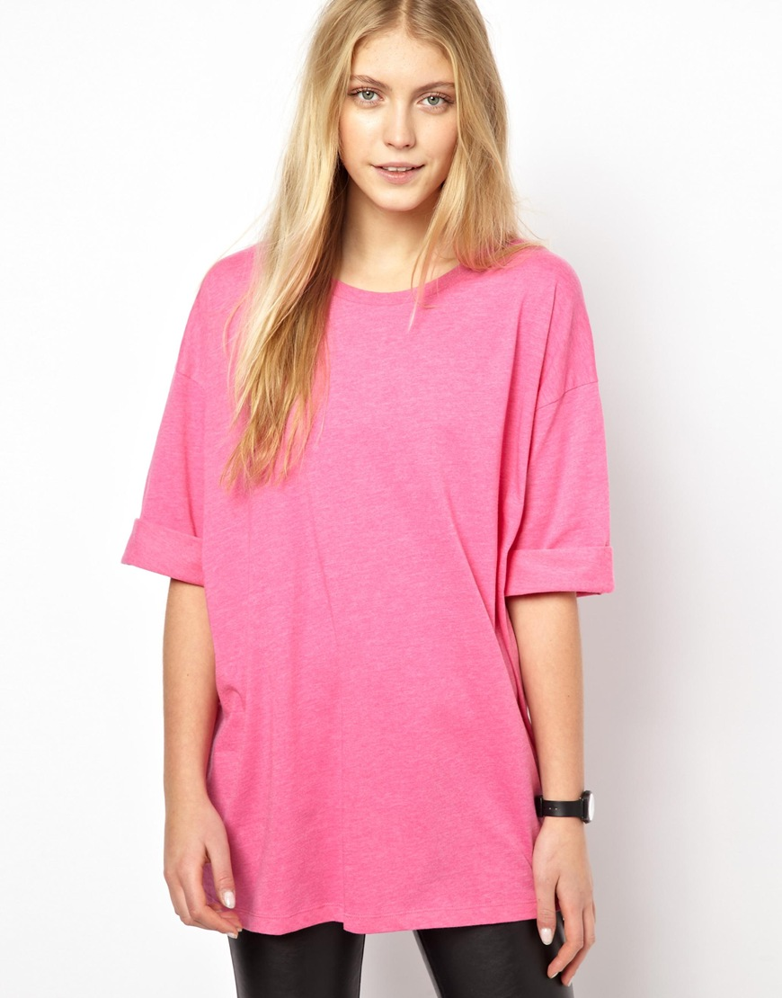 ecd8f7eb Lyst – Asos Extreme Oversized T-shirt In Heavy Jersey In Pink in Pink for  Men