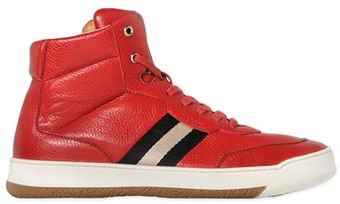 Bally Attilio Deer Leather High Top Sneakers - Lyst