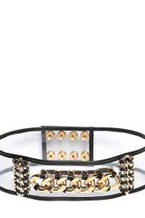 Balmain 75mm Chained Pvc High Waist Belt - Lyst