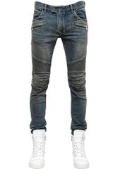 Balmain 16cm Stretch Skinny Cotton Denim Jeans