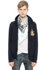 Balmain Embroidered Fleece Hooded Sweatshirt - Lyst