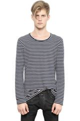 Balmain Striped Cotton Jersey Vintage T-shirt - Lyst