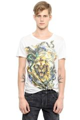 Balmain Cotton Jersey Lion T-shirt - Lyst