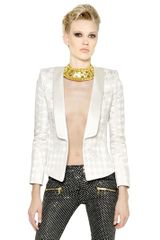 Balmain Stretch Houndstooth Cady Jacket - Lyst