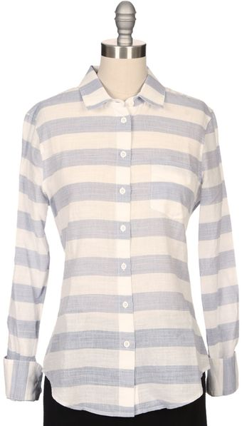 Band Of Outsiders Wide Stripe Easy Shirt - Lyst
