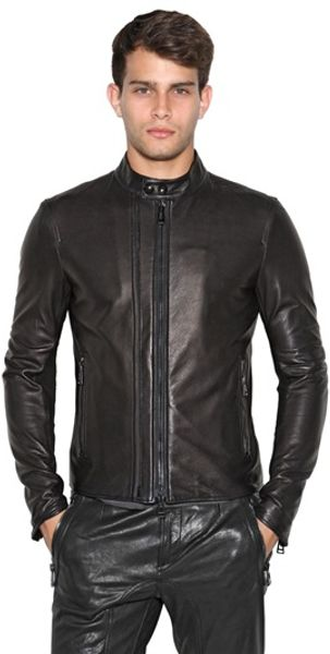 Belstaff Holbrook Leather Moto Jacket - Lyst