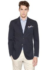 Boglioli Stretch Cotton Twill Jacket - Lyst