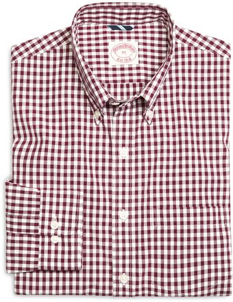 Brooks Brothers Gingham Poplin Sport Shirt - Lyst