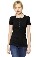Burberry Brit Cotton Jersey Polo Shirt - Lyst