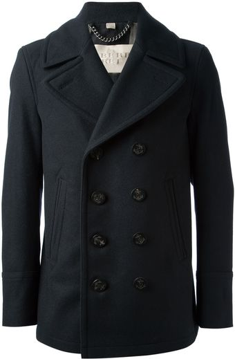 Burberry Brit Double Breated Peacoat - Lyst