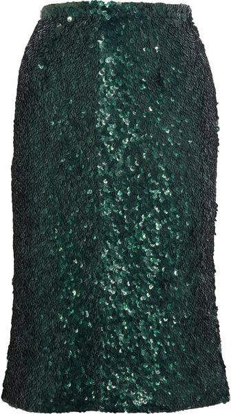 Burberry Prorsum Sequined Pencil Skirt - Lyst