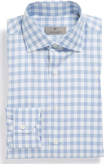 Canali Trim Fit Dress Shirt - Lyst
