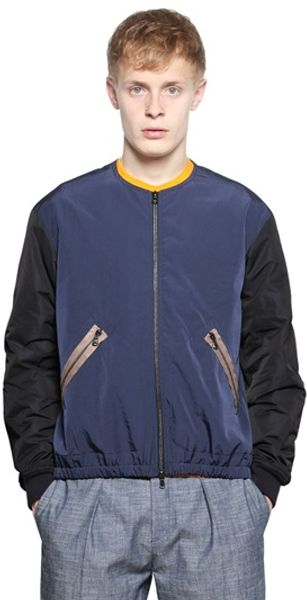 Carven Colour Blocked Nylon Bomber Jacket - Lyst