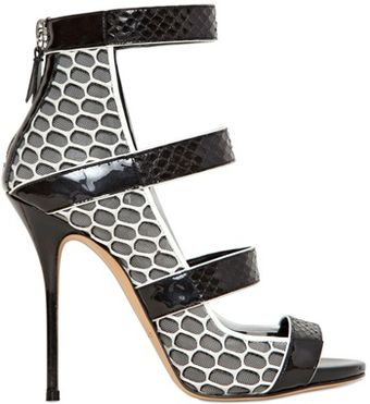 Casadei 110mm Mesh Ayers Sandals - Lyst