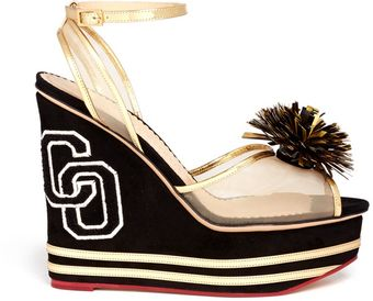 Charlotte Olympia Cheerleader Wedges - Lyst