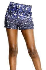 Cher Michel Klein High Waisted Jersey Shorts - Lyst