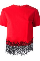 Christopher Kane Lattice Detail Top - Lyst