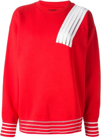 Christopher Kane Striped Sweatshirt - Lyst