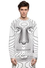 Christopher Kane Cotton Fleece Sweatshirt - Lyst