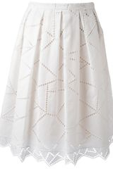 Christopher Kane Geometric Lace Skirt - Lyst