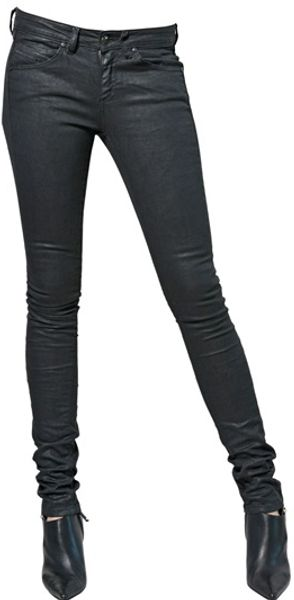 Diesel Black Gold Resined Stretch Denim Jeans - Lyst