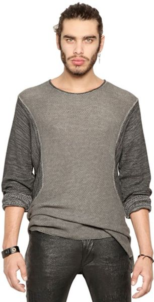 Diesel Black Gold Cotton Knit Sweater - Lyst