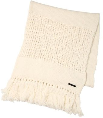 Diesel Black Gold Wool Blend Knit Scarf - Lyst