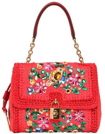 Dolce & Gabbana Medium Dolce Embellished Top Handle Bag - Lyst