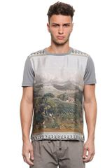 Dolce & Gabbana Countryside Printed Cotton Silk Tshirt - Lyst