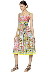 Dolce & Gabbana Cotton Poplin Dress - Lyst