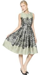 Dolce & Gabbana Lace Silk Organza Dress - Lyst