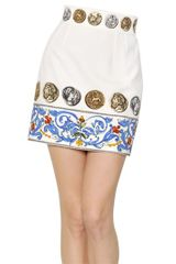 Dolce & Gabbana Cotton Jacquard Effect Skirt - Lyst