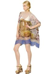 Dolce & Gabbana Transparent Silk Chiffon Kaftan Dress - Lyst