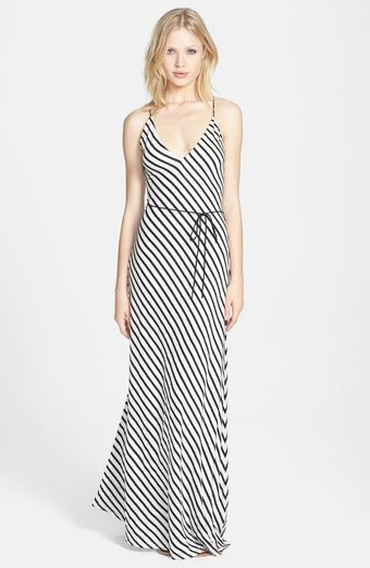 Dolce Vita Linen Cotton Stripe Maxi Dress - Lyst