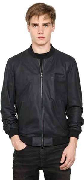 Drome Nappa Leather Bomber Jacket - Lyst