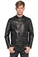 DSquared2 Quilted Soft Nappa Leather Biker Jacket - Lyst