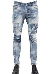 DSquared2 17cm Tidy Biker Fit Cotton Denim Jeans - Lyst