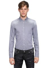 DSquared2 Faded Checked Print Cotton Poplin Shirt - Lyst