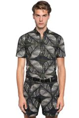 DSquared2 Jungle Leafs Print Cotton Poplin Shirt - Lyst