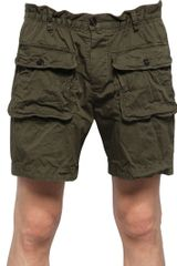 DSquared2 Stretch Cotton Drill Shorts - Lyst