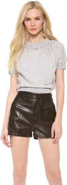 DSquared2 Cropped Short Sleeve Sweatshirt - Lyst