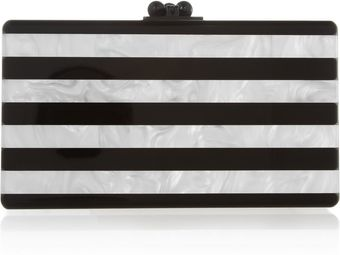 Edie Parker Jean Striped Pearleffect Box Clutch - Lyst