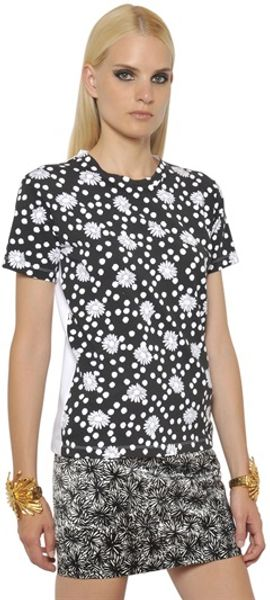 Emanuel Ungaro Cotton Jersey Short Sleeved T-shirt - Lyst