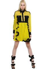 Emanuel Ungaro Polka Dot Chiffon Silk Dress - Lyst