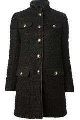 Emilio Pucci Boucle Knit Short Coat - Lyst