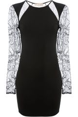 Emilio Pucci Sheer Panel Dress - Lyst