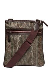 Etro Paisley Printed Waxed Canvas Flat Bag - Lyst