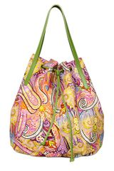 Etro Calcutta Paisley Cotton Canvas Bag - Lyst