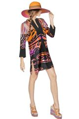 Etro Printed Silk Twill Dress - Lyst